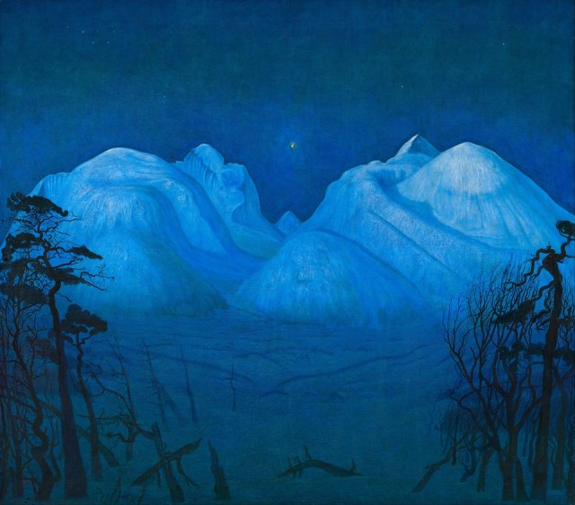 Harald Oskar Sohlberg (Norwegian, 1869-1935), Winter Night in the Mountains, (1914)