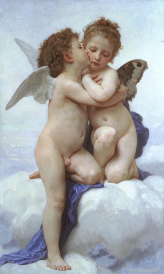 Bouguereau, Amore e psiché, bambini (1890)