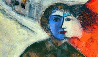chagall - al crepuscolo - particolare