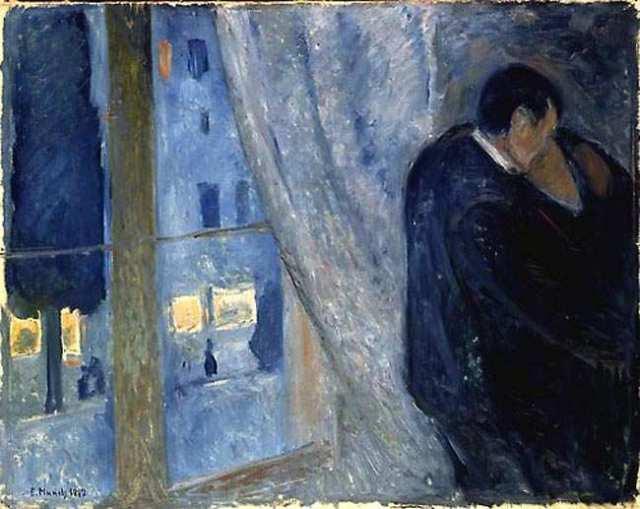 Eduard Munch, Bacio con Finestra (1892)
