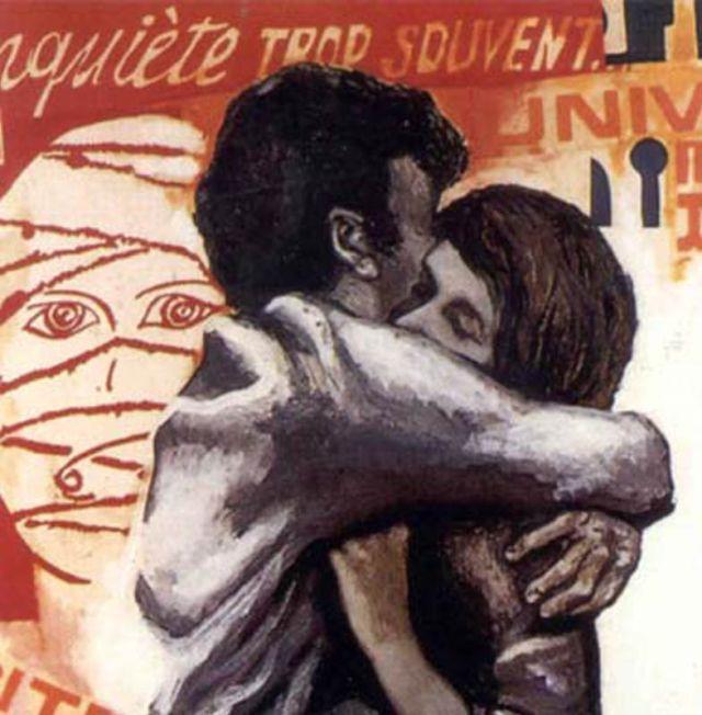 Guttuso, Giovani innamorati (1968