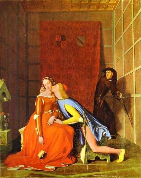 Ingres,  Paolo e Francesca (1819)