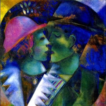 Mark Chagall, Gli innamorati in verde