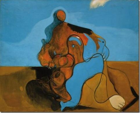 Max Ernst, Il bacio (1927)