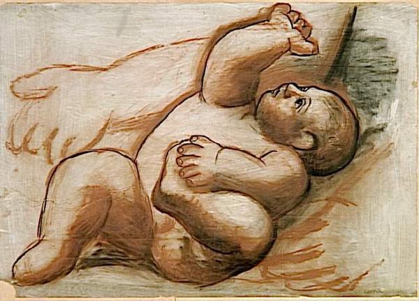 Pablo Picasso, studio per - Femme et enfant au bord de la mer (1921)