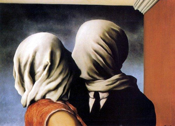 Renè Magritte, Les amantes (1928)