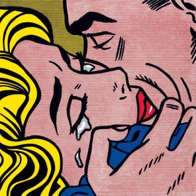 Roy Lichtenstein, Kiss-V, Silkscreen print (1964)