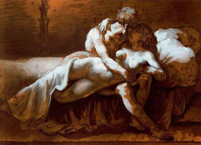 Theodore Gericault, Il bacio (1859)