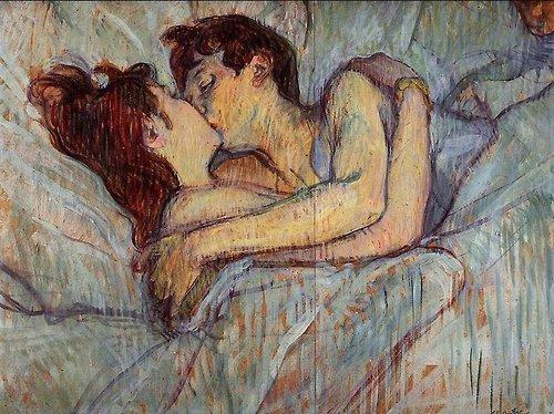 Toulouse Lautrec, Il Bacio tra le Lenzuola (1892)
