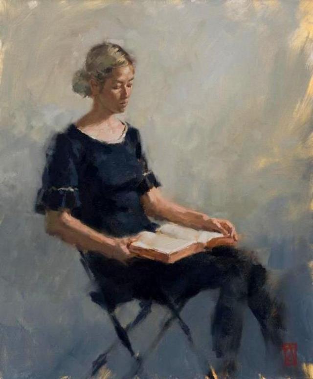 Aaron Coberly (artista contemporaneo) - Anna reading