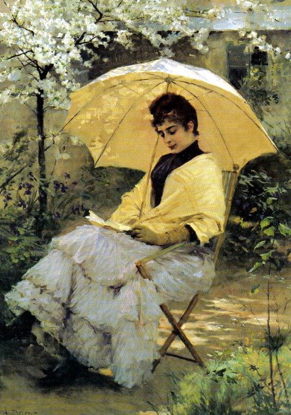 Albert Edelfelt, Woman and Parasol, 1886