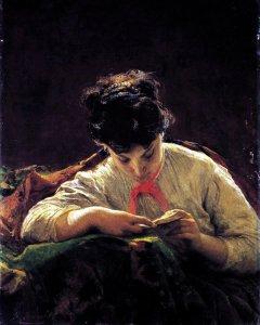 Bianchi Mosè, La lettrice, 1867