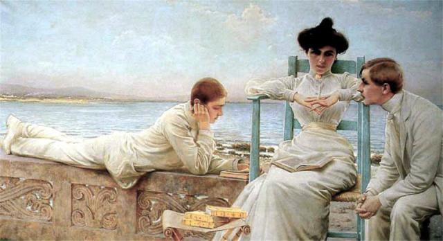 Corcos, In lettura al Mare, 1910