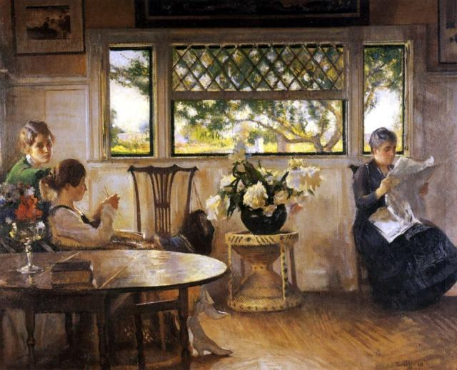Edmund Charles Tarbell, Mother Mercie and Mary, 1918