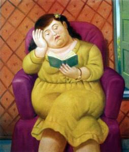 Fernando Botero, Mujer Leyendo, 2003