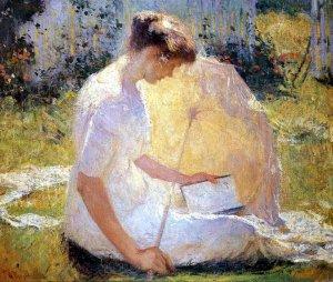 Frank Weston-Benson, The reader, 1910