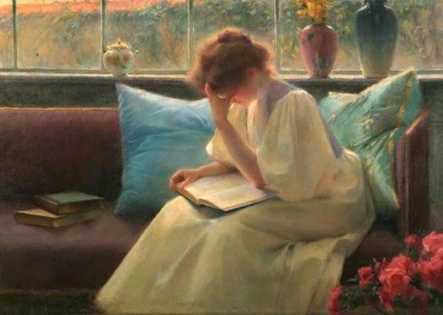 Franz Dvorak (1862-1927) Thoughtful Reading