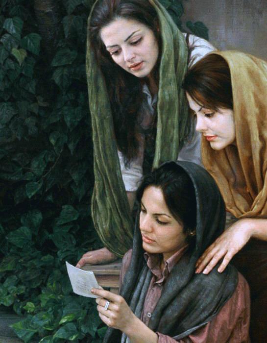 Iman Maleki (pittore iraniano contemporaneo)  Girls reading