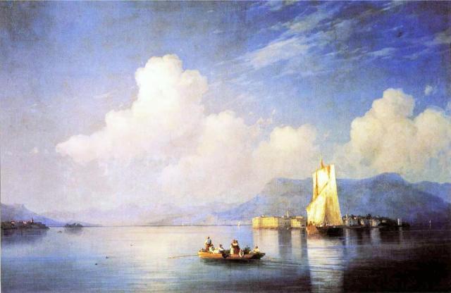 Ivan Konstantinovic Ajvazovskij, Il Lago Maggiore di sera
