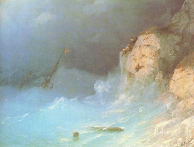 Ivan Konstantinovic Ajvazovskji, Il Naufragio - The Shipwrek (1864)