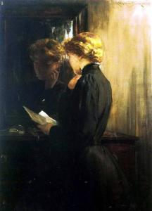 James Carrol Beckwith, The letter, 1910