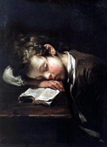 Jean-Baptiste Greuze, Le petit Paresseux, 1755