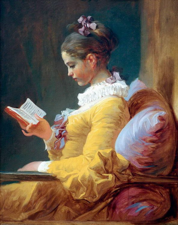 Jean-Honoré Fragonard, Ragazza che legge, 1776