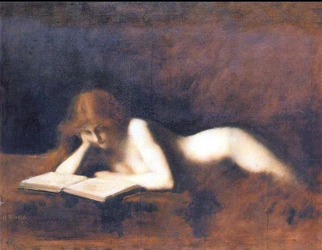 Jean Jacques Henner, woman Reading, 1880-90