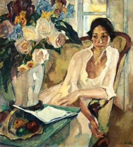 Leo Putz (1869-1940), Portrait of a Woman (1922)