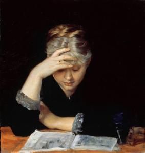 Marie Bashkiryseff - At a Book (date unknow)