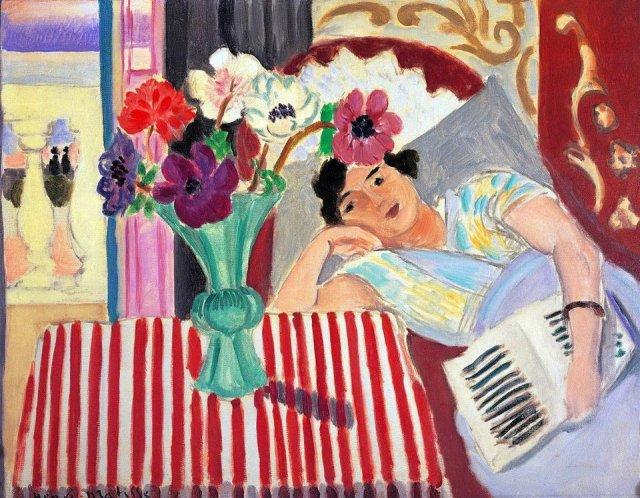 Matisse, Femme et anémones, 1920, ca.