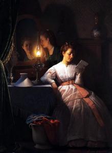 Peter van Schendel, The love letter, 1870