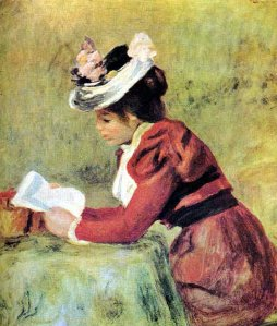 Pierre Auguste Renoir, Femme lisant, 1895