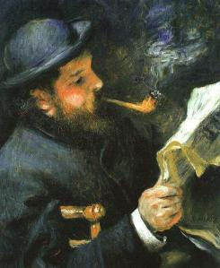 Renoir, Caude Monet reading, 1872