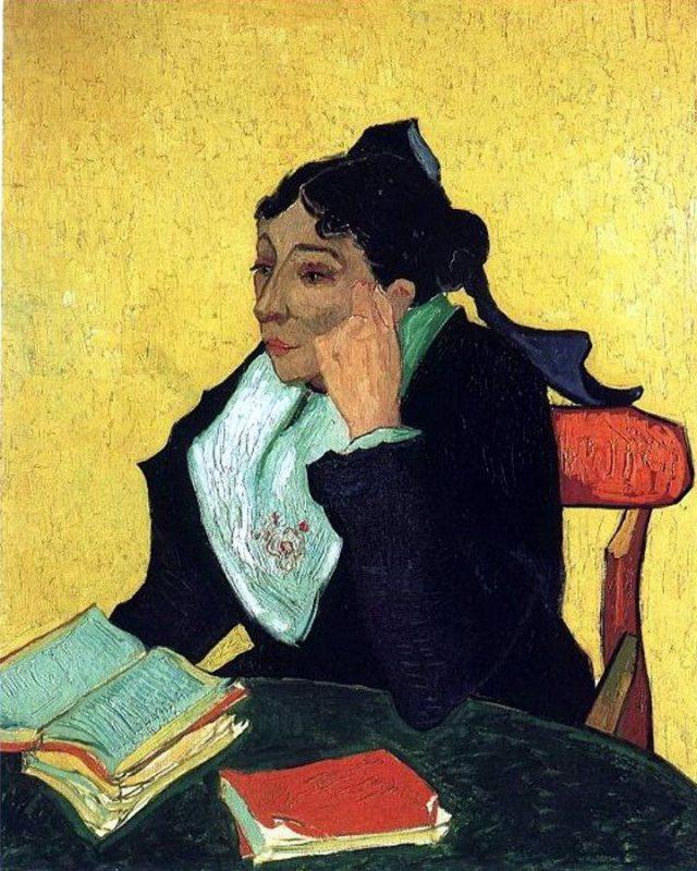 Van Gogh, L'Arlesienne - Madame Ginoux with Books (1888)