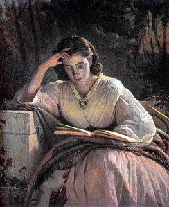 van Kramskoy, Woman reading, 1863