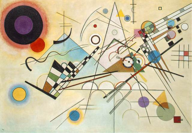 Vassilij Kandinskij, Composizione 8, 1923, olio su tela, 140x201 - Museo Solomon R. Guggenheim, New York