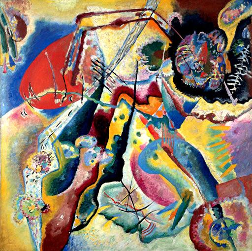 Vassilij Kandinskij, Con macchia rossa, 1914