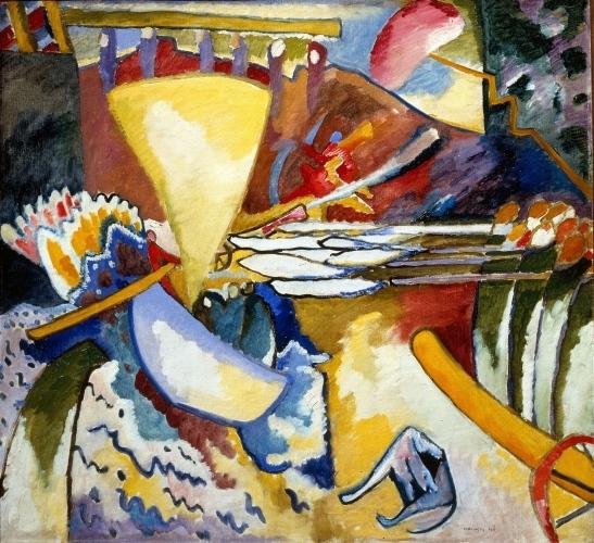 Vassilij Kandinskij, Improvvisazione 11, 1910, olio su tela,  S. Pietroburgo, Museo di Stato Russo