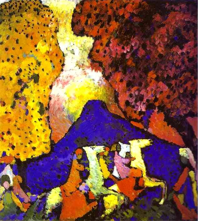 Vassilij Kandinskij, Montagna Blu (1908-09)