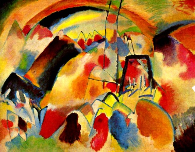Vassilij Kandinskij, Paesaggio con Chiesa, 1913