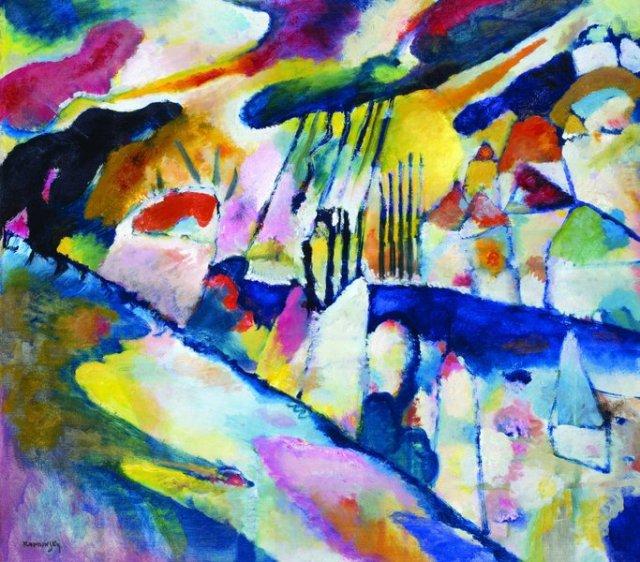 Vassilij Kandinskij, Paesaggio con Pioggia, 1913
