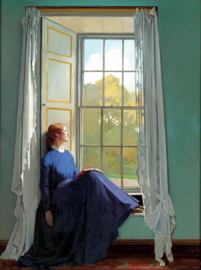 William Orpen, The window seat, 1901