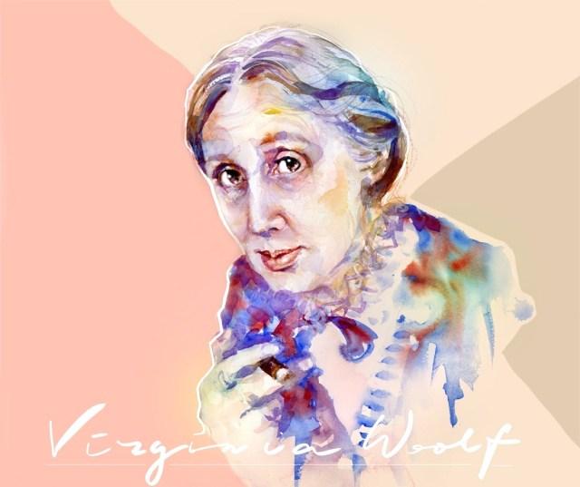 Virginia Woolf, portrait-watercolor by Marta Spendowska
