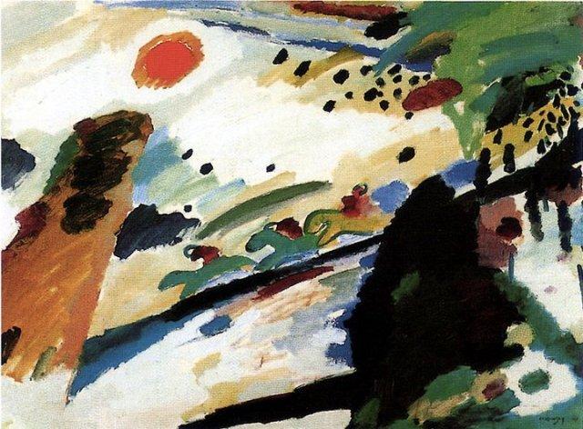 Wassily Kandinsky, Romantic Landscape, 1911