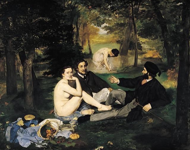 Manet, Le Dejeuner sur l'herbe (1862-63)