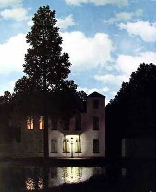 Magritte , L'impero delle luci (1954)