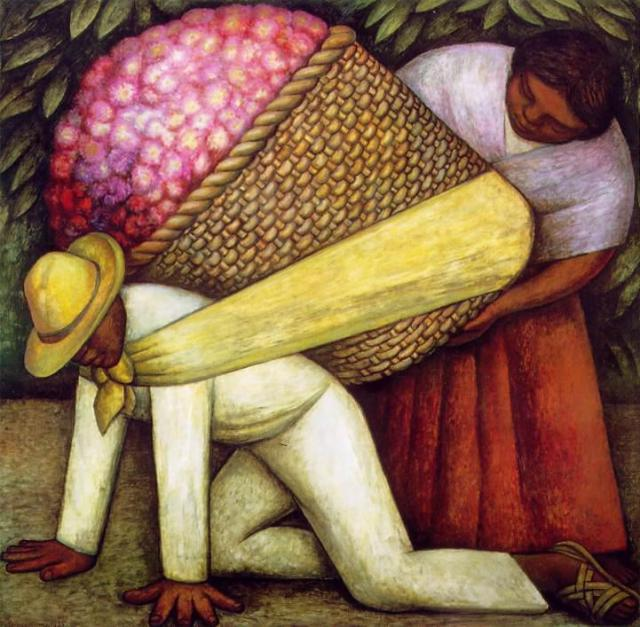 Diego Rivera, Flower Carrier, 1935