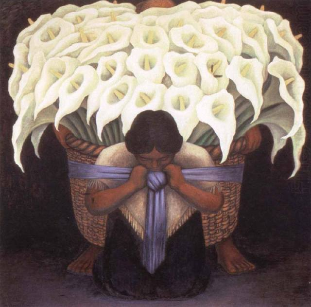 Diego Rivera, The Flower Seller, 1942