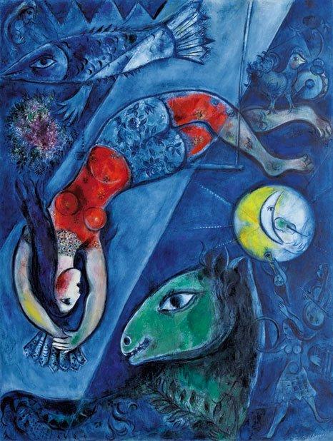 Marc Chagall, Il circo blu (1950-52)